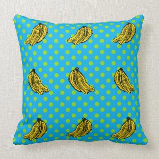 Cool banana throw pillow