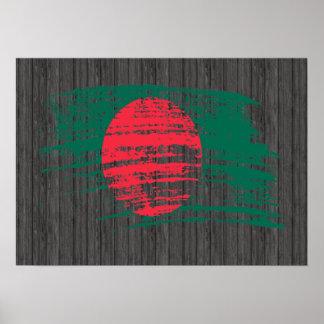 Cool Bangladeshi flag design Poster