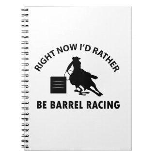 Cool BARREL RACING designs Spiral Notebook