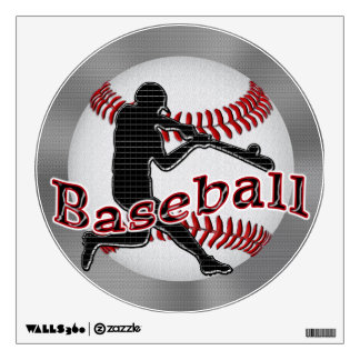 Cool Baseball Decals with Techno Batter and Ball