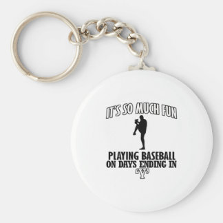 cool Baseball DESIGNS Basic Round Button Keychain