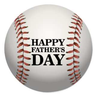 Cool Baseball Father's Day Party Invitations