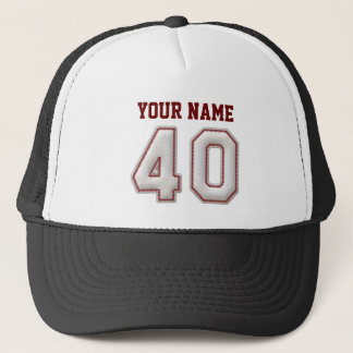 Cool Baseball Stitches - Custom Name and Number 40 Trucker Hat