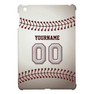Cool Baseball Stitches - Custom Number 00 and Name iPad Mini Cover