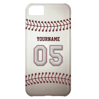 Cool Baseball Stitches - Custom Number 05 and Name Cover For iPhone 5C