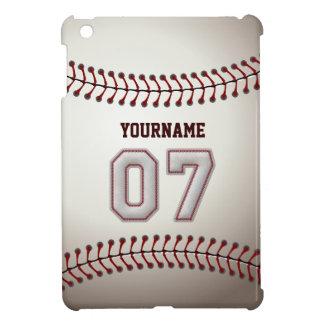 Cool Baseball Stitches - Custom Number 07 and Name iPad Mini Cover