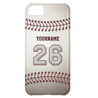 Cool Baseball Stitches - Custom Number 26 and Name iPhone 5C Covers