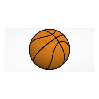 Cool Basketball and Custom Sports B Ball Custom Photo Card