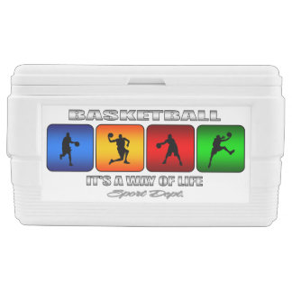 Cool Basketball It Is A Way Of Life Chest Cooler