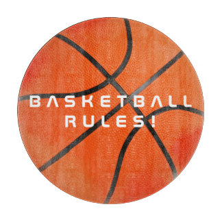 Cool Basketball Rules   Sport Gift Cutting Board