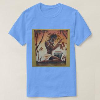 Cool batik painting of Rasta Drummer on T-Shirt