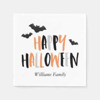 Cool Bats Halloween Party Disposable Napkins