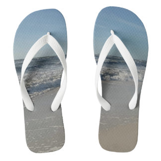 Cool Beach Ocean Print Flip Flops
