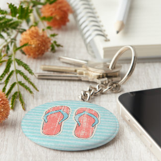 Cool Beach Party Flipflops Keychain Favors