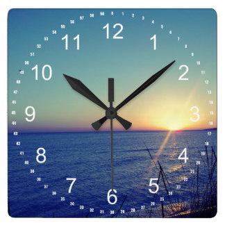 Cool Beach Square Wall Clock