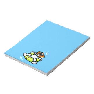 Cool Beagle Pool Float Off-Leash Art™ Notepads
