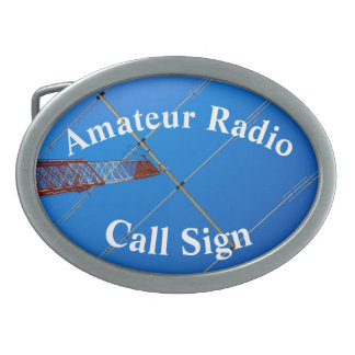 Cool Beam Antenna and Call Sign Oval Belt Buckle