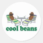 Cool Beans Round Sticker