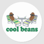 Cool Beans Round Stickers