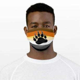 Cool Bear Pride Flag Bear Paw Cloth Face Mask