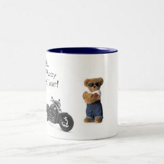 Cool Bear with a nice ride Two-Tone Coffee Mug