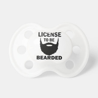 cool bearded design pacifier