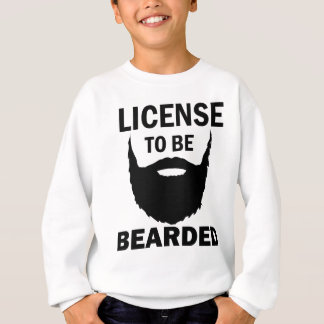 cool bearded design sweatshirt