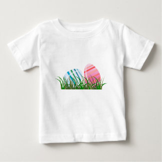 Cool Beautiful colorful eggs happy first easter Baby T-Shirt