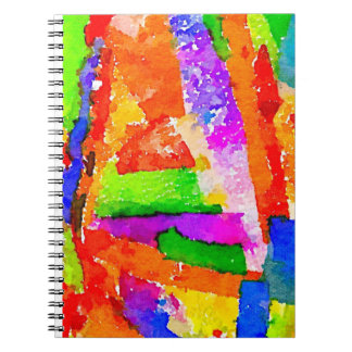 Cool Beautiful Colourful Abstract Collage Notebooks