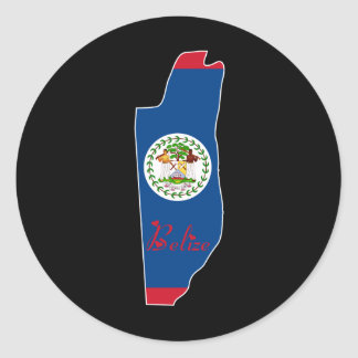 Cool Belize Classic Round Sticker