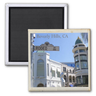 Cool Beverly Hills, Rodeo Dr. Magnet! Square Magnet