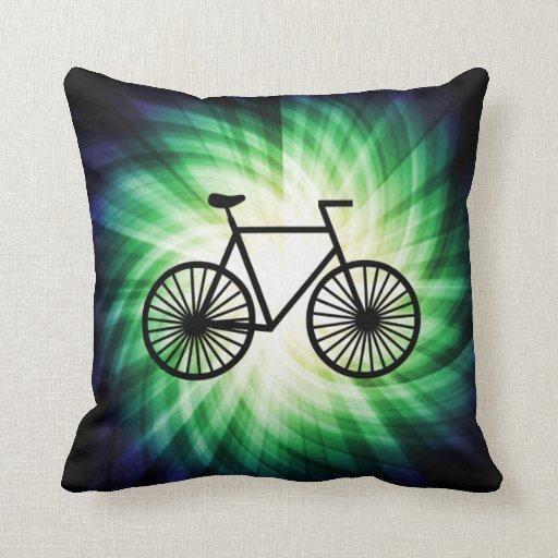 Cool Bicycle Throw Pillow