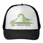 Cool Big Brother Shirt - Dinosaur Theme Mesh Hats
