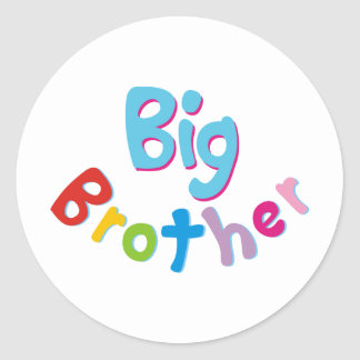 Cool Big Brother Shirt Round Stickers