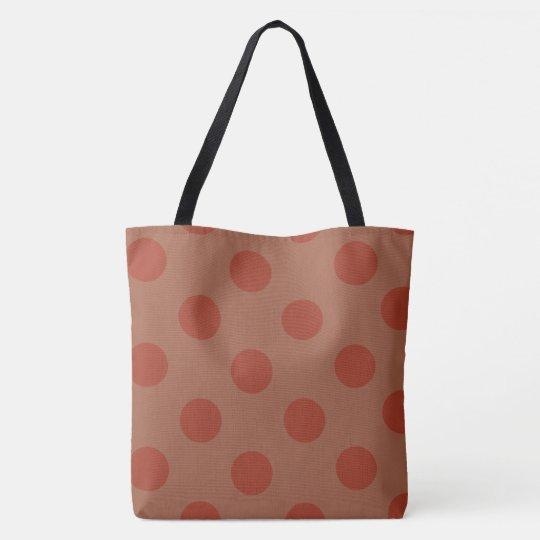 Cool Big Dots Pattern Tote Bag, Large