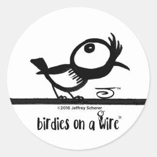 Cool birdie sticker