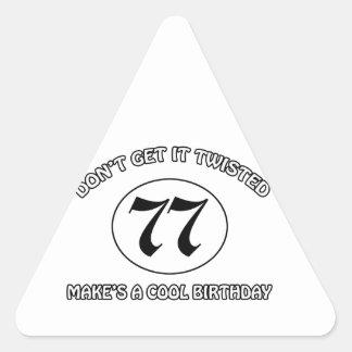 cool birthday design triangle sticker