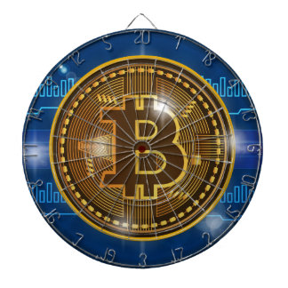 Cool Bitcoin logo and graph Design Dartboard