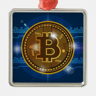 Cool Bitcoin logo and graph Design Metal Ornament