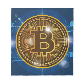 Cool Bitcoin logo and graph Design Notepad