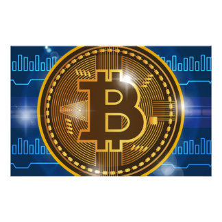 Cool Bitcoin logo and graph Design Stationery