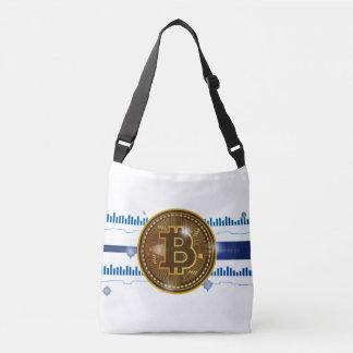 Cool Bitcoin Logo with Graph Cross body Bag