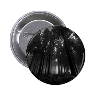 Cool Black and White Forest Fog Silence Gifts 2 Inch Round Button