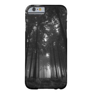 Cool Black and White Forest Fog Silence Gifts Barely There iPhone 6 Case