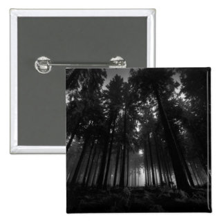 Cool Black and White Forest Fog Silence Gifts 2 Inch Square Button