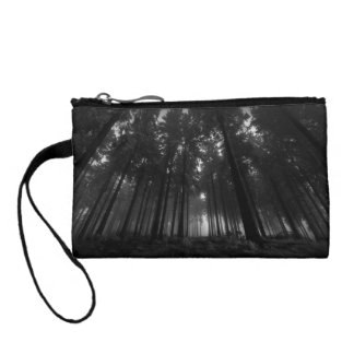 Cool Black and White Forest Fog Silence Gifts Coin Wallet