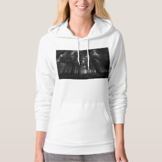 Cool Black and White Forest Fog Silence Gifts Hoodie