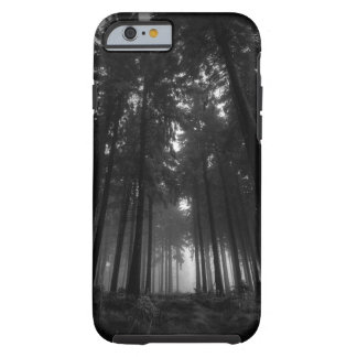 Cool Black and White Forest Fog Silence Gifts Tough iPhone 6 Case