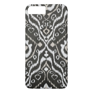 Cool black and white masculine ikat tribal pattern iPhone 7 plus case