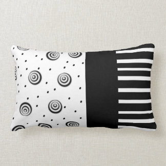 cool black and white pillow  modern chic